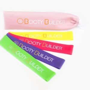 Booty Builder mini bandjes - roze etui met 4 bandjes